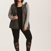Black Faux Ballet Wrap Leggings