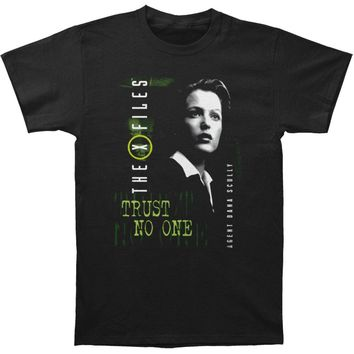 X Files Men's  Scully T-shirt Black Rockabilia