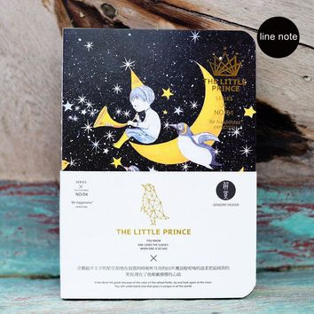 Cute Little Prince Theme Portable Line Notebook 18.3*13cm Cool Note Book Gift 80 Sheets School Office Gift Free Shipping