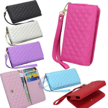 Universal wallet Purse Available For iPhone 5 5S SE 5C iPod touch 5 Leather Flip Handbag Wallet Case Cover Mobile Phone Cases