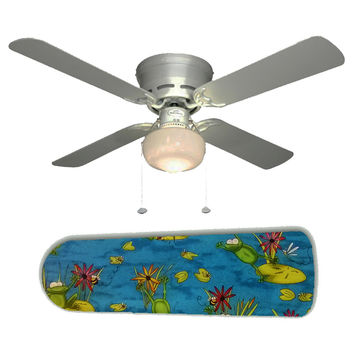 "Frog Pond Fun 42"" Ceiling Fan and Lamp"