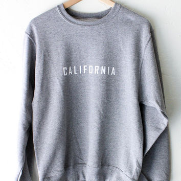 California Oversized Sweater - Grey