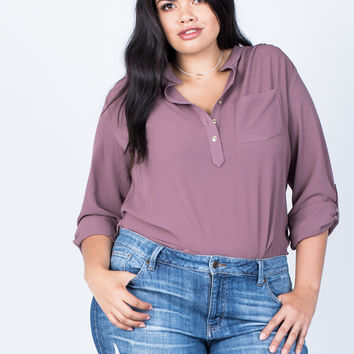 Plus Size Busy Days Woven Blouse
