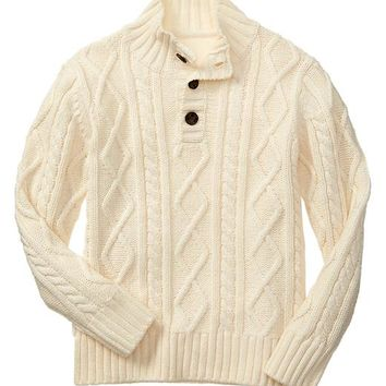 Gap Boys Factory Mockneck Cable Knit Sweater