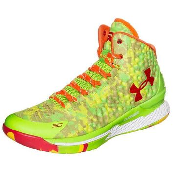 LMFON Under Armour Curry 1 Candy Reign 1258723-390 Men Basketball