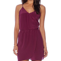 Rory Beca Shan V-Neck Wrap Dress in Purple