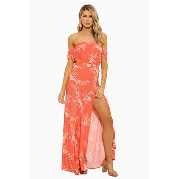 Bella Maxi Dress - Apricot Burst