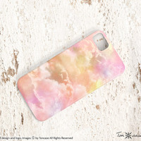 Cloud iPhone 5 case - iPhone 4 case, iPhone 4s case, High quality 3D printing, pink, sky, heaven - dreamy clouds (c110)