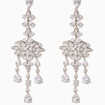 Lenora Sparkle Chandelier Earrings | Charming Charlie