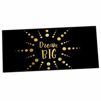 "NL Designs ""Dream Big"" Black Gold Desk Mat"