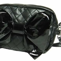 Hilary's Vanity - BOW PURSE WITH A BLACK BOW