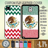 Mexico Chevron Flag Flip Leather Cover IPhone 5 Case 5S IPhone 4 Case 4S Samsung Galaxy S4 Case Galaxy S3 Cover Samsung Note 3 Note 2 L73