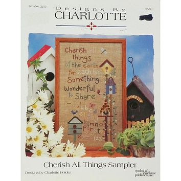 Cherish All Things Sampler - Counted Cross Stitch Leaflet