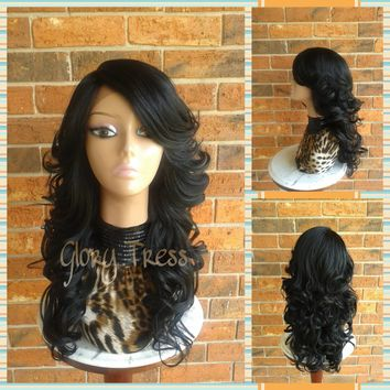 CLEARANCE // / Long & Curly Lace Front Wig, Glam Curl Bombshell Wig, Ombre Wig // RENEW (Free Shipping)