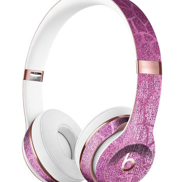 Glamorous Pink Scales Full-Body Skin Kit for the Beats by Dre Solo 3 Wireless Headphones
