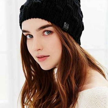 Bickley + Mitchell Leather Patch Beanie-