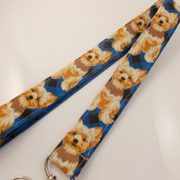 Yorkshire Terrier Lanyard Dog Lanyard Teacher Lanyard Terriers Animal Lanyard Yorkshire Terrier Accessories Nurse Lanyard Terrier Key Ring