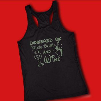 Powered By Pixie Dust And Wine Disney Tinkerbell Women'S Tank Top