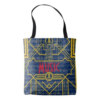 Music Note !920's Art Deco Tote Bag