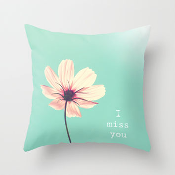 I miss you Throw Pillow by Shilpa
