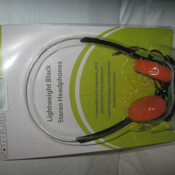 Vintage style orange foam headphones Star Lord Guardians of the Galaxy