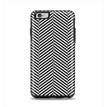 The Black and White Opposite Stripes Apple iPhone 6 Plus Otterbox Symmetry Case Skin Set