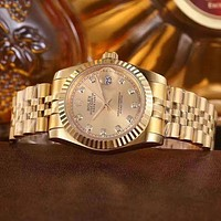 【Tourtownbeach】 Rolex Fashion Quartz Watches Wrist Watch Gold