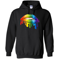 Lgbt Gay Homosexual Lesbian Rainbow Lips Pride T-Shirt cool shirt