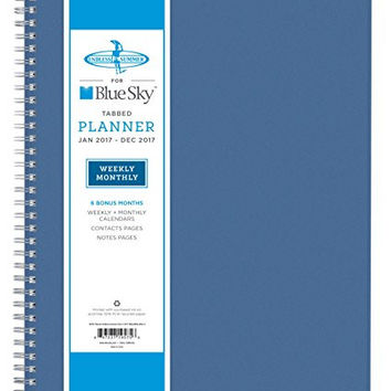 """Blue Sky 2017 Weekly & Monthly Planner, Wire-O Binding, 8.5"""" x 11"""", Endless Summer (19575)"""