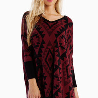 Emmy Aztec Oversized Sweater $47