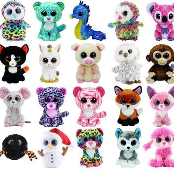 Ultra Cute Beanie Boos Stuffed Plush Animals Dolls Elephant Monkey Toys for Girl Rabbit Fox Cute Animal Owl Unicorn Cat Ladybug (FREE SHIPPING TO USA)