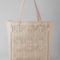 JEMMA PERFORATED TOTE IN IVORY