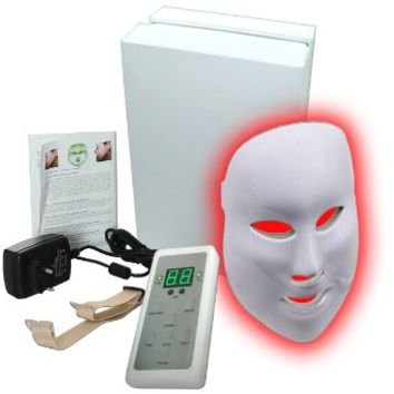 Pro-Nu Red, Blue, Green LED Light Therapy Photorejuvenation Facial Mask. Phototherapy aka Photo Light Therapy for Acne, Age Spots, Wrinkles, Sun Damage. Easy 15 Minute LED Photon treatment to Prevent Skin Aging and for Skin Rejuvenation with ZERO Side Effe
