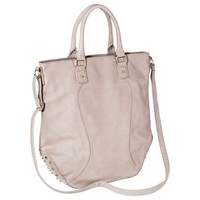 Xhilaration® Perforated Tote Handbag with Studs - Beige