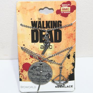 Licensed cool AMC The Walking Dead 3 Weapons Charm Pendant Necklace Ringleader Archer Samurai