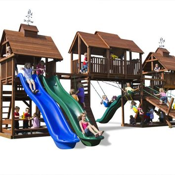Playnation Adventure Mountain Wooden Swing Set