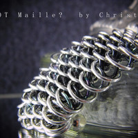 Bracelet - Cuff - Dragonscale - Chainmaille - Handmade