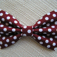 White polka dot- Hair bow, Hair bows for girls, cute hair bows out of cotton fabric, bows for weddings