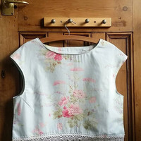 Floral blouse lace top size 14 clothing womens clothes medim tops