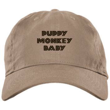 Puppy Monkey Baby Brushed Twill Unstructured Embroidered Dad Cap