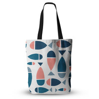 "Alik Arzoumanian ""Fish"" White Blue Everything Tote Bag"