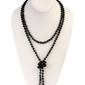 Rondelle Beads Longline Necklaces