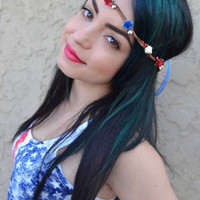 Patriotic Mini Rose Crown #D1010