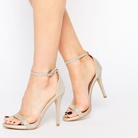 Call It Spring Qerinna Champagne Barely There Heeled Sandals
