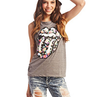 Rolling Stones™ Floral Tank | Wet Seal