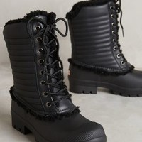 Hunter Quilted Rain Boots Black