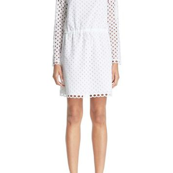 Carven Broderie Anglaise Cotton Dress | Nordstrom
