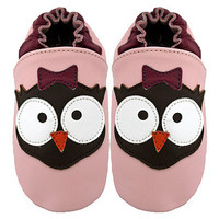 Owl pink - $18.99 : Wildcub Kids!, Handmade cute baby shoes etc.