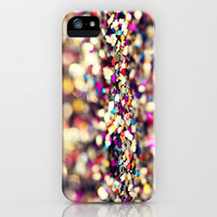 Rainbow Sprinkles glitter - an abstract photograph iPhone Case by Amelia Kay Photography | Society6