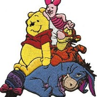 Disney Winnie The Pooh Group Embroidered Iron On Movie Patch DS-101